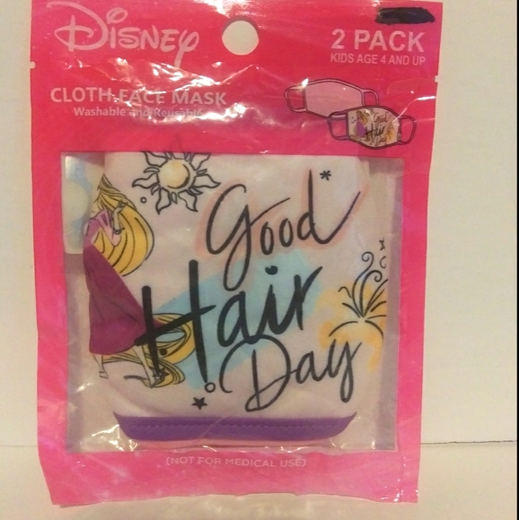 Disney princess Rapunzel cloth face mask 2pack new